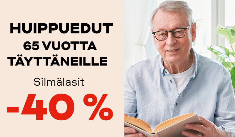 0–16-vuotiaille kaikki silmälasit -40 %