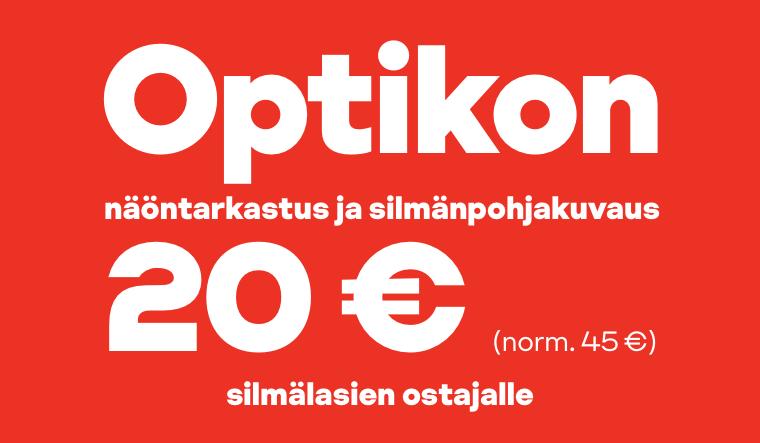 Optikon näöntarkastus ja silmänpohjakuvaus nyt 20 € (norm. 45 €) silmälasien ostajalle