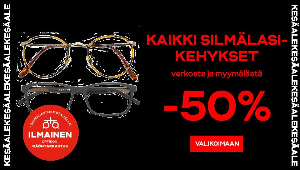 Kaikki silmälasikehykset -50%