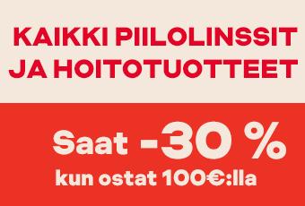 osta 100€:lla, saat -30 %