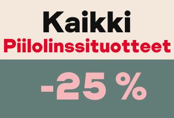 piilolinssituotteet -25 %