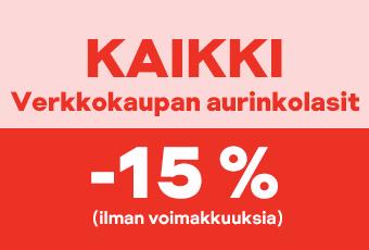 Aurinkolasit -15 %