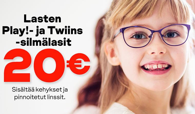 Lasten silmälaseja 20 €