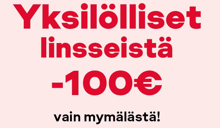Yksilölliset linssit -100€