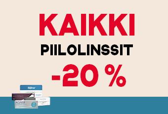Nyt verkkokaupassa: Piilolinssit -20 %