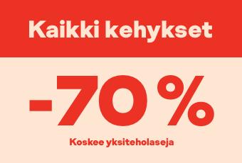Kaikki kehykset -70 % (koskee yksiteholaseja)