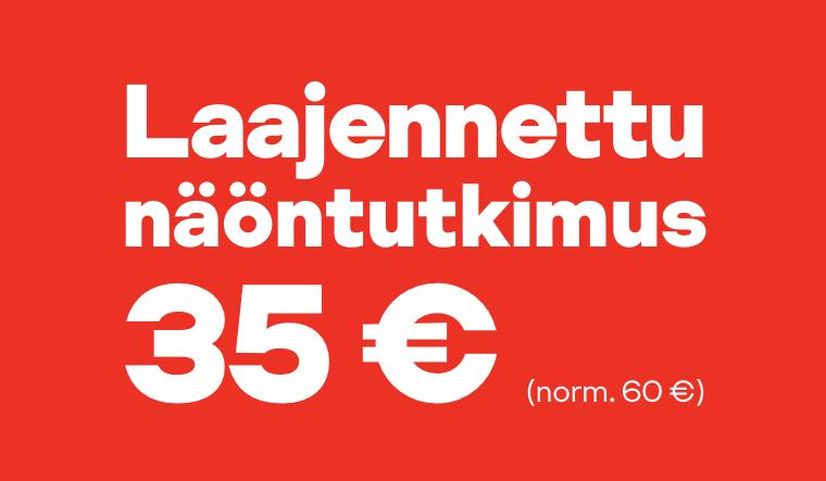 Laajennettu näöntutkimus nyt 35 € (norm. 60 €)