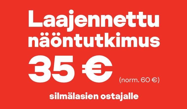 Laajennettu näöntutkimus nyt 35 € (norm. 60 €) silmälasien ostajalle
