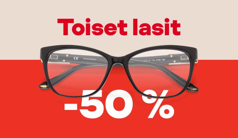 Toiset lasit -50 %
