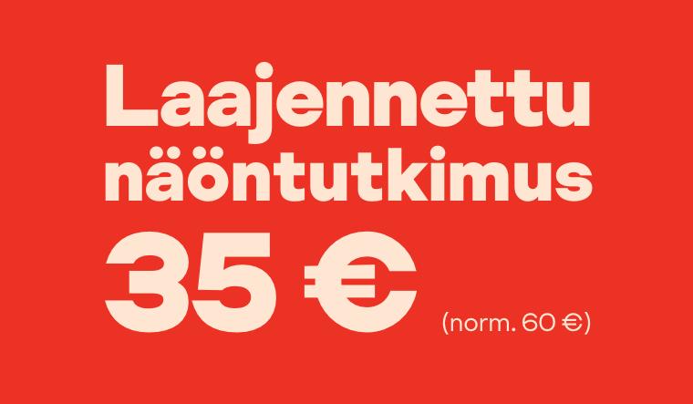 Laajennettu näöntutkimus 35 € (norm. 60 €)