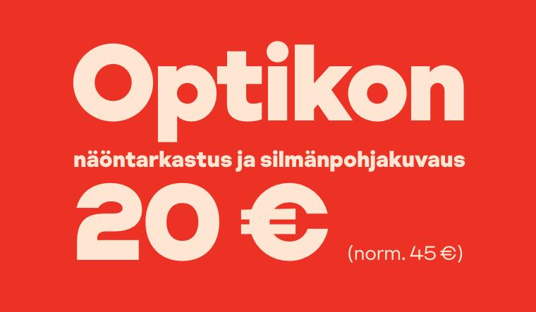 Optikon näöntarkastus ja silmänpohjakuvaus 20 € (norm. 45 €)
