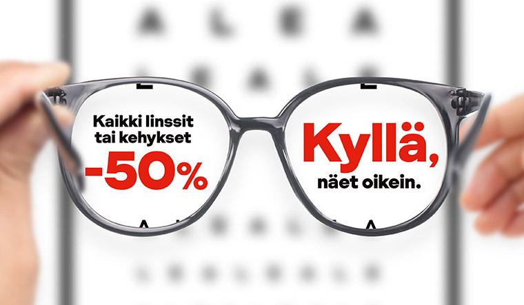 Kaikki kehykset -50 %