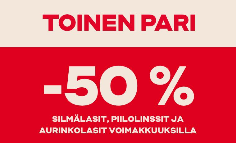 Toinen pari -50 %