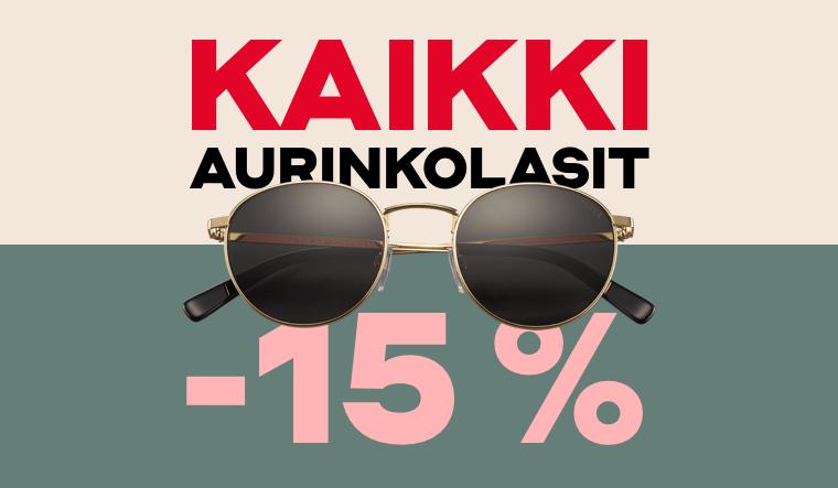 Kaikki aurinkolasit -15 %