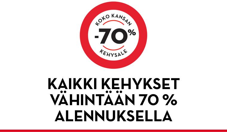 Koko kansan -70 % kehysale