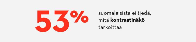 Yli puolet suomalaisista ei tiedä mitä kontrastinäkö tarkoittaa.