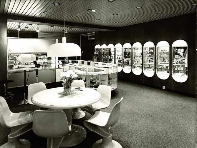 Aleksin myymälä 1969 -luvulla.