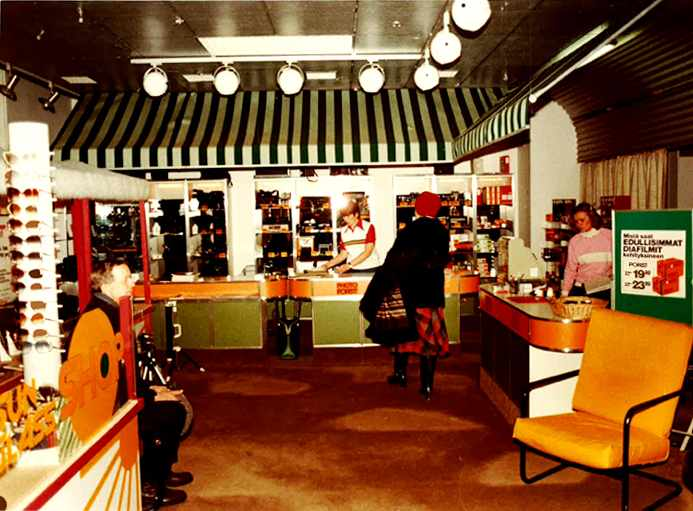 Aleksin myymälä 1970 -luvulla.
