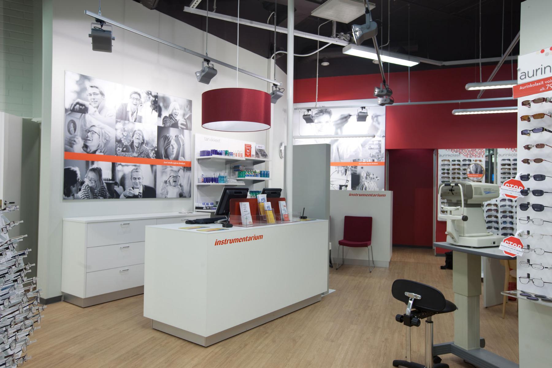 Instrumentarium -myymälä 2016.